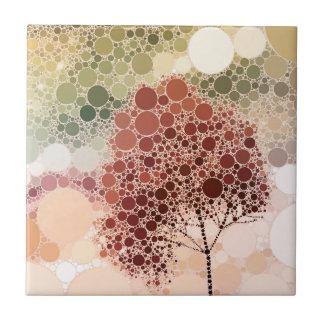 rojo del árbol del efecto azulejos ceramicos