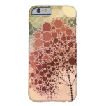 rojo del árbol del efecto funda de iPhone 6 barely there