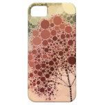 rojo del árbol del efecto iPhone 5 carcasas