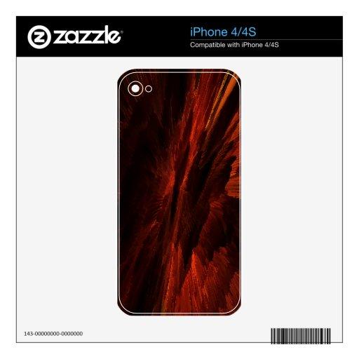 rojo del arte de la llama calcomanía para iPhone 4S