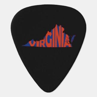 Rojo del arte de la palabra del nombre del estado plumilla de guitarra