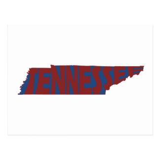 Rojo del arte de la palabra del nombre del estado tarjeta postal