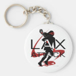 Rojo del ataque de LAX de los chicas de LaCrosse Llavero Personalizado
