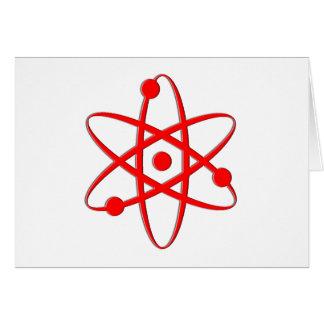 rojo del átomo tarjeton