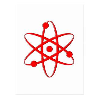 rojo del átomo postales