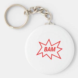 Rojo del Bam Llavero Personalizado