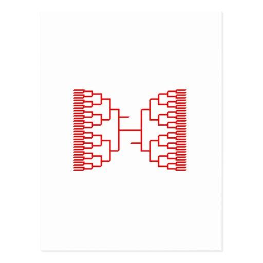 rojo del bracketology postal