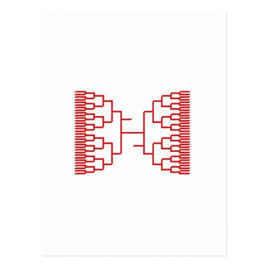 rojo del bracketology tarjetas postales