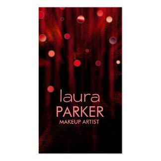 Rojo del brillo de la belleza del artista de tarjeta de visita