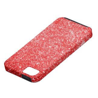 Rojo del brillo funda para iPhone 5 tough