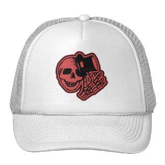 Rojo del caballero del sombrero de copa del cráneo gorras de camionero
