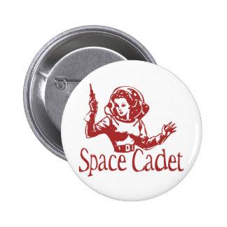 Rojo del cadete del espacio pin redondo 5 cm