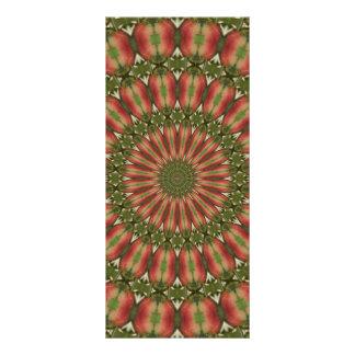 rojo del caleidoscopio de la manzana de cangrejo tarjeta publicitaria a todo color