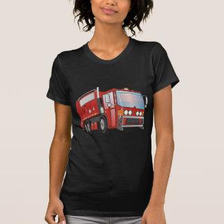 rojo del camión de basura 3d camiseta
