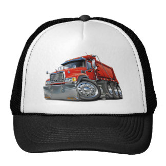 Rojo del camión volquete de Mack Gorras