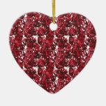 Rojo del camuflaje ornamento para arbol de navidad