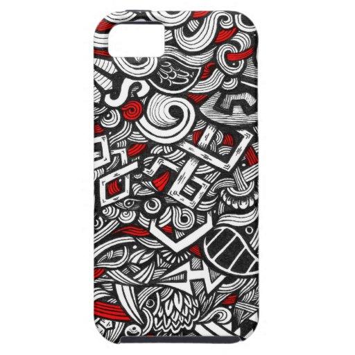 ¡Rojo del caos! iPhone 5 Case-Mate Cobertura