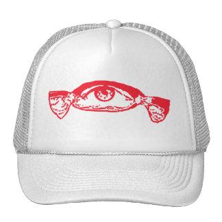 rojo del caramelo del ojo gorra