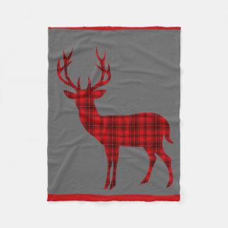 Rojo del carbón de leña de la silueta el   del manta de forro polar