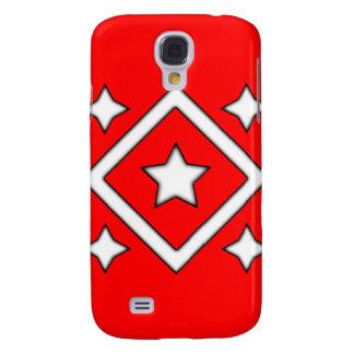 Rojo del caso de Iphone 3 de la estrella del diama
