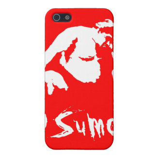 Rojo del caso del iPhone 4 de la mota del sumo iPhone 5 Fundas