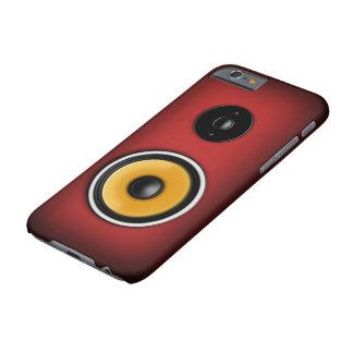 Rojo del caso del iPhone 6 del altavoz Funda De iPhone 6 Barely There