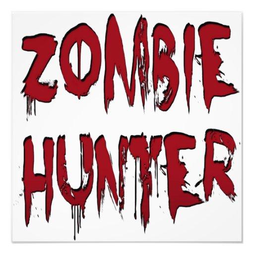 Rojo del cazador del zombi foto
