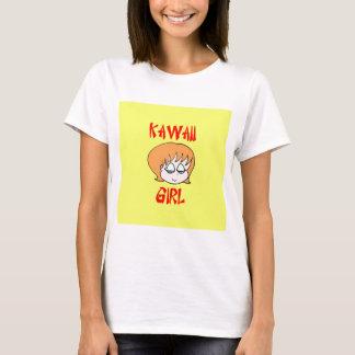 rojo del chica del kawaii playera