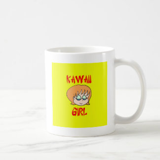 rojo del chica del kawaii taza de café