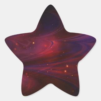 Rojo del cielo de las nebulosas calcomanía cuadrada
