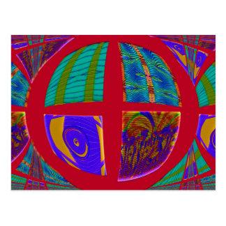 rojo del círculo del remiendo postal