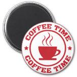 Rojo del círculo del tiempo del café A251 Imán De Frigorifico