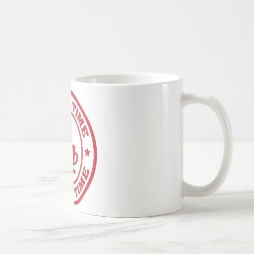 Rojo del círculo del tiempo del café A251 Taza Clásica