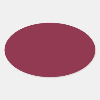Rojo del clarete pegatina ovalada