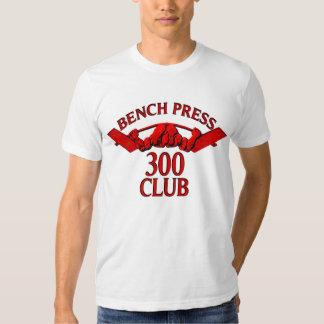 Rojo del club de la prensa de banco 300 playeras