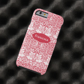Rojo del conejo de William Morris Brother Funda De iPhone 6 Tough