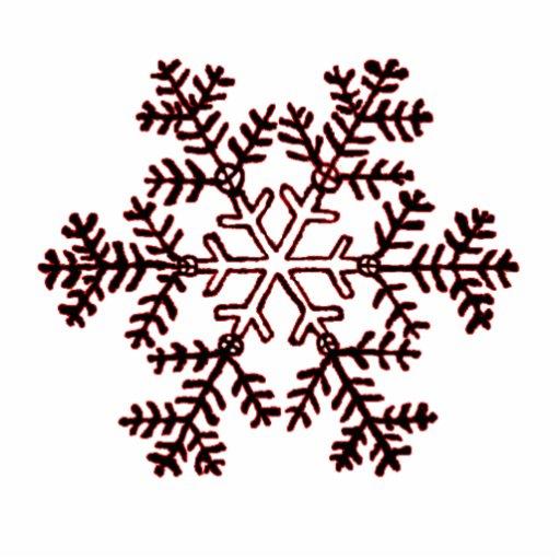 Rojo del copo de nieve 2 del ornamento del navidad esculturas fotográficas