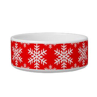 Rojo del copo de nieve 4 tazón para agua para gatos