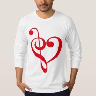 Rojo del corazón de la música playera