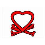 Rojo del corazón y de los huesos los regalos de postal