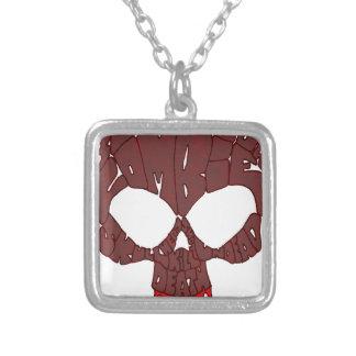 Rojo del cráneo de la palabra colgante cuadrado