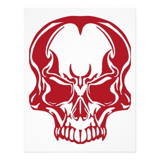 """Rojo del cráneo folleto 8.5"""" x 11"""""""