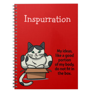Rojo del cuaderno del gato de InsPURRation