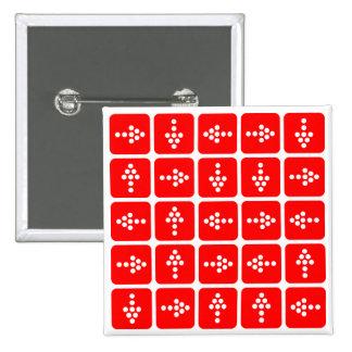 Rojo del cuadrado de la flecha del LED Pin Cuadrado