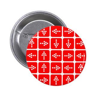 Rojo del cuadrado de la flecha del LED Pin Redondo De 2 Pulgadas