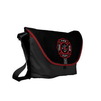 Rojo del cuerpo de bomberos bolsa de mensajeria
