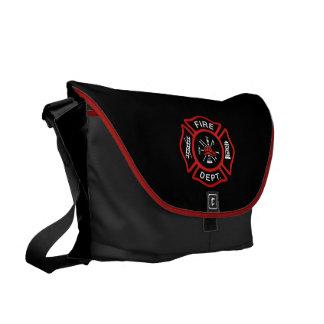 Rojo del cuerpo de bomberos bolsa de mensajería