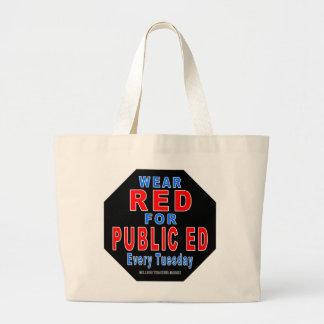 Rojo del desgaste para Ed público Bolsa