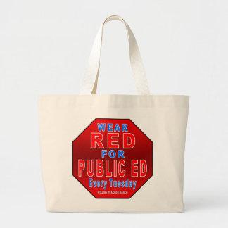 Rojo del desgaste para Ed público Bolsa De Mano