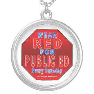 Rojo del desgaste para Ed público Colgante Redondo